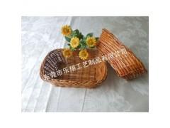 天然材质编织筐/针线包装篮子/芒藤编小篮子