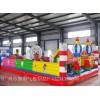 广东充气儿童城堡定做厂家深圳充气闯关运动玩具移动水上乐园