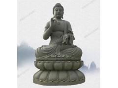 大型青石莲花座佛教寺庙释迦牟尼石雕像 如来佛祖雕塑
