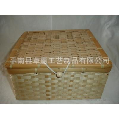 ﹡广西编织工艺品生产 竹编野餐篮 收纳篮