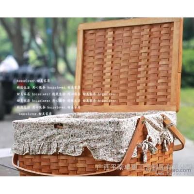 竹制品|竹编篮竹编工艺品|广西地方特色工艺品|精美木片篮|竹篮子