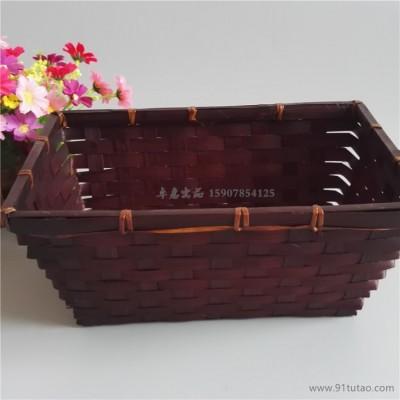 特色外贸竹编篮筐 竹制收纳筐 手工编竹工艺品 广西竹篮工厂生产