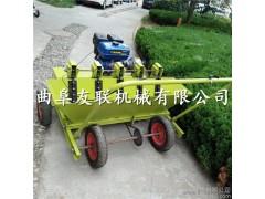 新款四轮车带动全自动大蒜种植机器 家庭农场大蒜播种机汽油自走式