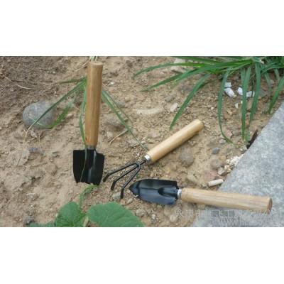 现货批发 儿童迷你3件套园艺工具木柄花具种花小铲子小尖铲小草耙 园艺用具组套装