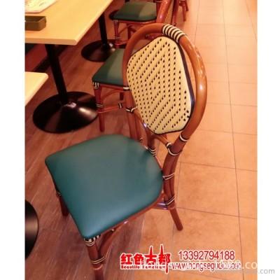藤椅 藤编餐椅酒店 藤编餐桌酒楼 高档特色生态 压皮革餐椅