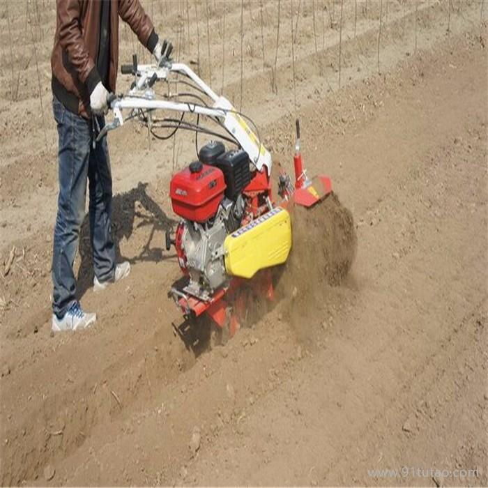 手扶式柴油开沟机 多功能开沟培土旋耕机  种植葱姜蒜开沟机