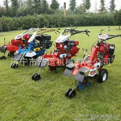 柴油动力手推葱姜蒜种植开沟机 果园施肥排水开沟培土机