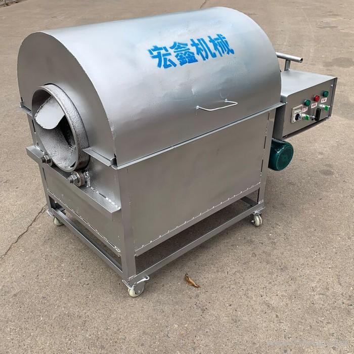 街头干货翻炒机滚筒式干果炒货机 油料作物滚筒炒货机