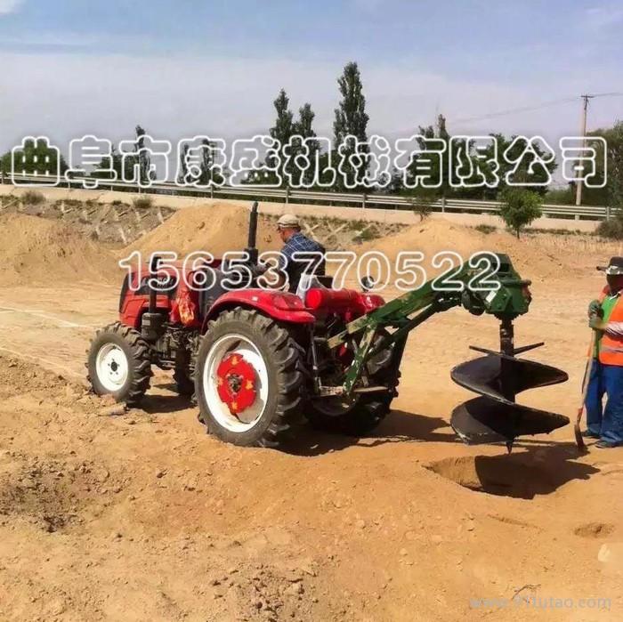城市绿化种植观赏花木工作舒适出土率高大型拖拉机挖坑机