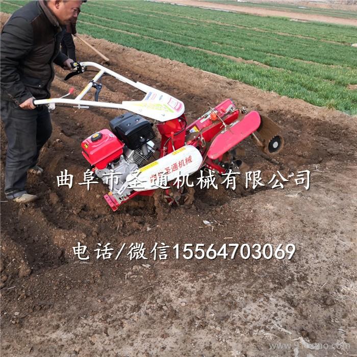 观赏花卉栽培挖沟机 自走式作畦开沟培土机 小型开沟机厂家
