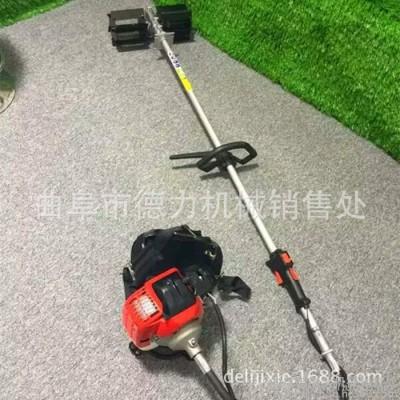 自带多种农具小型收割机 汽油割草机 背负式锄草机
