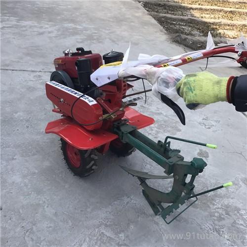 手扶车带动旋耕机农用松土机 可配多种农具的旋耕机 G