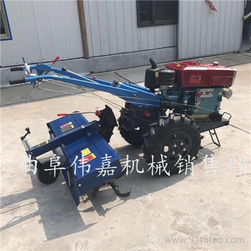 可配多种农具的旋耕机 新款手扶拖拉机旋耕机