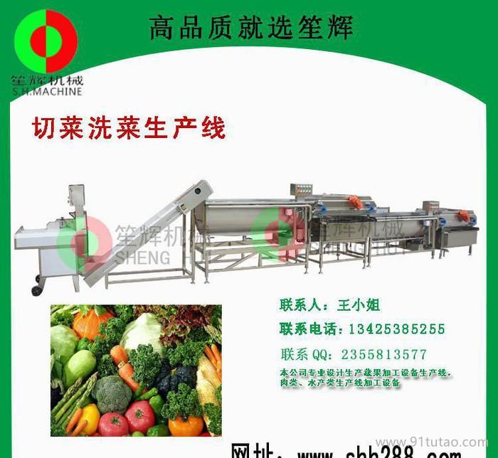 大型洗菜机  叶菜类清洗生产线蔬果 洗菜机
