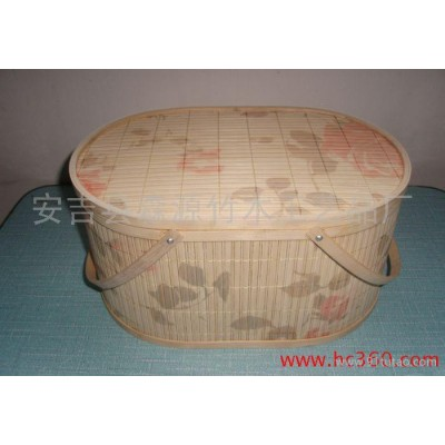 供应专业大闸蟹包装大闸蟹包装篮来样定制竹篮