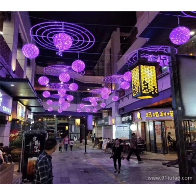 灯熠光电滴胶桃子造型灯 户外道路亮化桃子挂件灯 蝴蝶造型灯厂家