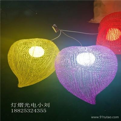 灯熠光电DY-659 滴胶桃心造型灯 园林亮化桃子挂件灯 造型灯厂家