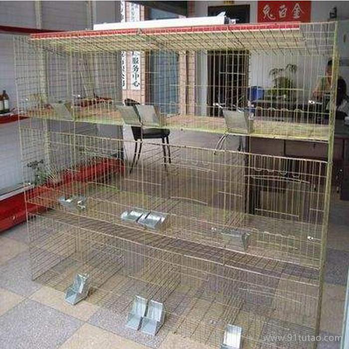 厂家直销供应养殖兔笼 肉兔笼 宠物兔笼 三层12窝兔子笼 品质保障