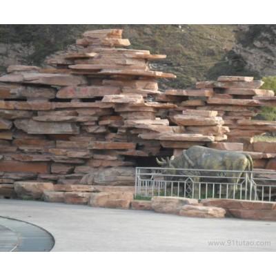 找河北高粱红工厂/高粱红蘑菇石工厂/高粱红文化石工厂到泓峰