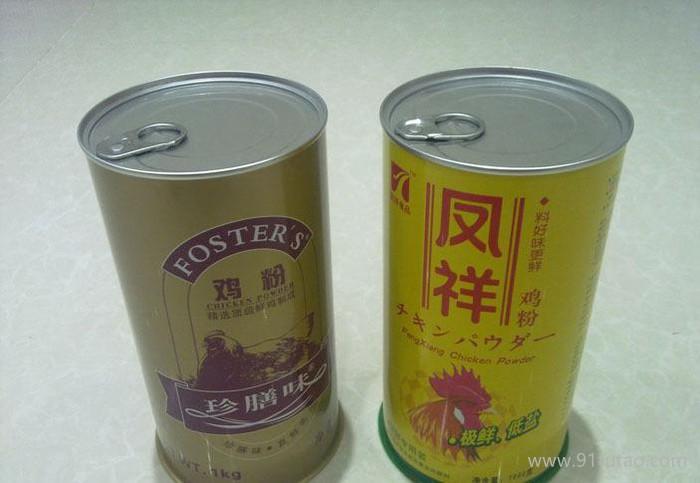 专业供应装鸡粉的铁罐/鸡晶罐,深圳鸡粉罐生产工厂