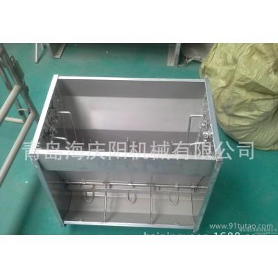 低价直销猪用不锈钢双面喂食器304不锈钢双面自动下料器