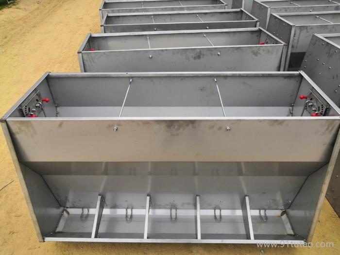 厂家批发 养猪设备 猪用料槽 猪用不锈钢双面料槽 自动食槽 育肥猪用自动料槽 下料器食槽