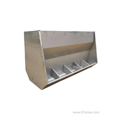 厂家批发 养猪设备 猪用食槽 无死角不锈钢双面料槽 不锈钢育肥双面单面料槽加厚猪用食料槽大猪用自动下料器养殖设备