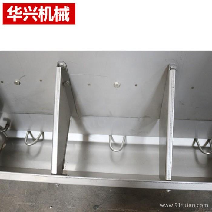 厂家批发 养猪设备 猪用食槽 无死角不锈钢双面料槽 加厚猪用食料槽大猪用自动下料器养殖设备