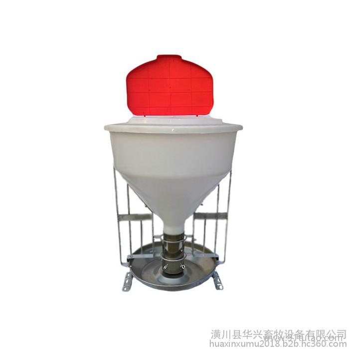 新型不锈钢80公斤干料槽猪用干湿料槽育肥食槽自动料槽下料器猪用