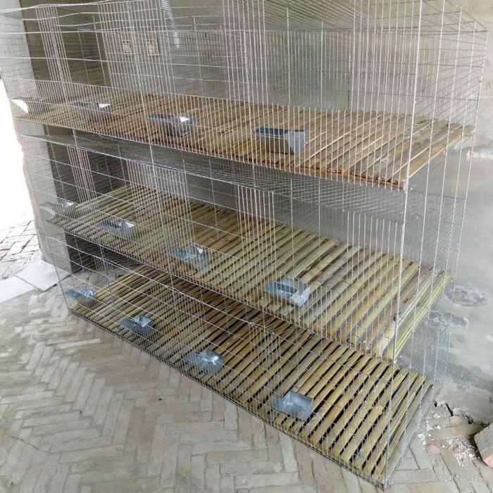 质保 厂家生产  兔笼 低碳钢丝冷拔丝 兔笼育肥种兔笼 带底加密子母兔笼 镀锌兔笼